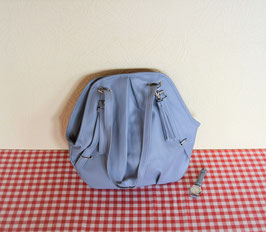 Damenhandtasche Jeansblau mit Quarzarmbanduhr