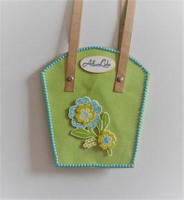 Pflanzen-Tasche groß hellgrün (2)