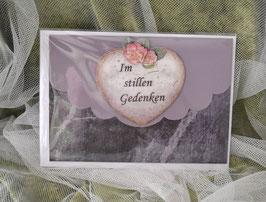 Trauerkarte - Im stillen Gedenken