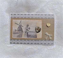 """Nostalgiekarte """"Ich liebe Dich"""" mit Herzsticker"""