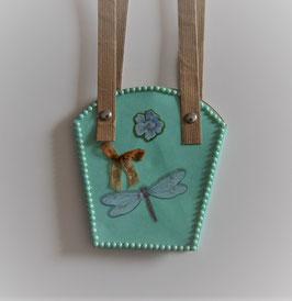 Pflanzen-Tasche klein mint (1)