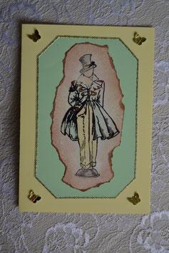 Männerkarte gelb-grün