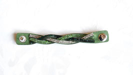 Schalschmuckband grün geflochten