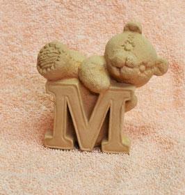"""Buchstabenbär """"M"""" rosa"""