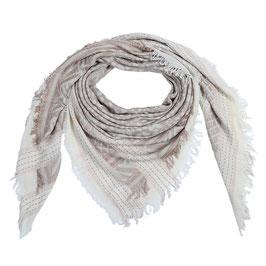Katoenen bedrukte sjaal - bruin/beige