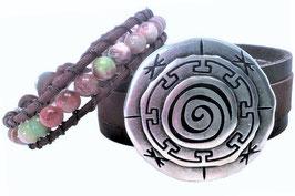 "Armbandenset ""ornament"" - bruin"