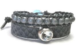 Armbandenset reptiel - grijs