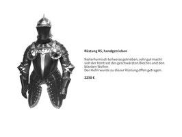 Ritterrüstung Reiterharnisch schwarz-weiß (SCHN-R5)