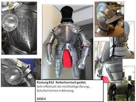 Ritterrüstung  Reiterharnisch geätzt komplett (SCHN-R12)