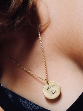 fremdformat Halskette *Vegan is Love*