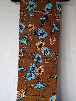 Torsodoek Pauw, vogel. bloemen