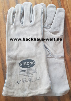 Holzbackofenhandschuh Rindspaltleder, Läng 35cm, Farbe beige.