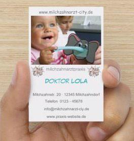 LOLA Milchzahnarzt - Visitenkarten & Terminkarten