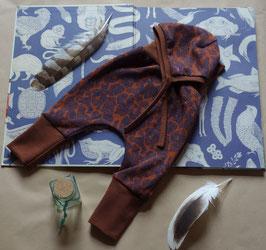 Hapilu Baby-Set 50-70, Schokobraun mit tintenfarbenen Ornamenten