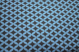 Hapilu Wollstrickstoff Rautenmuster Mitternachtsblau/Taubenblau