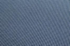 Hapilu Baumwollstrickstoff Hahnentritt Marine/Weiß