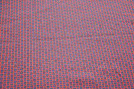 Hapilu Wollstrickstoff Kästchen Mitternachtsblau/Rost