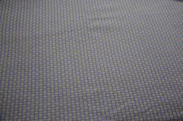 Hapilu Wollstrickstoff Kästchen Graubraun/Mitternachtsblau