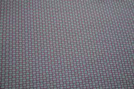 Hapilu Wollstrickstoff Kästchen Salbei/Violett
