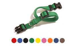 Collare regolabile a sgancio-TAGLIA S- lunghezza 25-35 cm larghezza nastro 15 mm