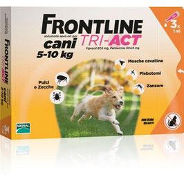 FRONTLINE TRI-ACT PER CANI DA 5 A 10KG DI PESO - 3 o 6 PIPETTE