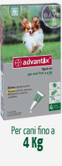 ADVANTIX CANE FINO A 4 KG - 4 PIPETTE