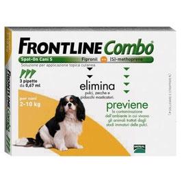 FRONTLINE COMBO PER CANI DA 2 A 10 KG DI PESO - 3 PIPETTE