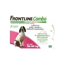 FRONTLINE COMBO PER CANI DA 20 A 40 KG DI PESO - 3 PIPETTE