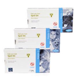 Fiale Spot On Protezione naturale e senza controindicazioni. particolarmente indicata per cuccioli, animali anziani, in convalescenza, in gravidanza e allattamento, animali a contatto con bambini.