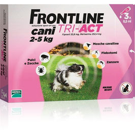 FRONTLINE TRI-ACT PER CANI DA 2 A 5KG DI PESO -3/6 pipette