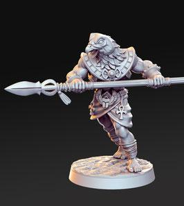 Horathi Krieger mit Kampfspeer