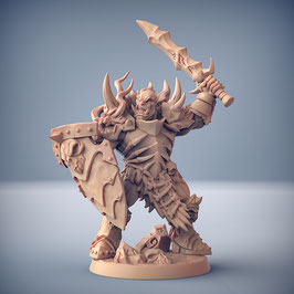 Frostclan Ork Krieger mit Schwert und Schild