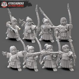 KM Zwergenfrauen Bogenschützen (8 Miniaturen)