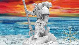 Atlantischer Captain mit Energiewaffe / magischem Stab