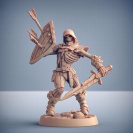 Skelettkrieger mit Einhandschwert und Schild