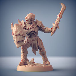 Exilant Krieger mit Schwert und Schild