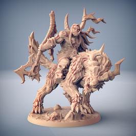 Throgar Ork Krieger Held mit schwerer Zweihandaxt