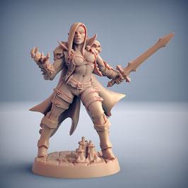 Vampir Kämpferin mit Kurzschwert