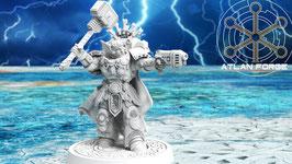 Asgards Smash Captain mit Energiehammer und Plasmapistole / Sturmpistole