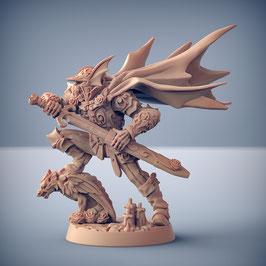 Hargul Rosenklinge Skelettkrieger Held mit Langschwert