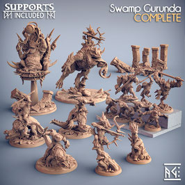 Sumpfkreaturen - komplettes Set (14 Modelle)