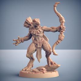 Echsenmensch Kriegerin mit Bogen