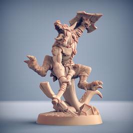 Kobold Krieger mit Spitzhacke und Schild