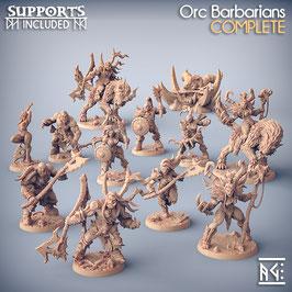 Kompletter südlicher Ork Stamm - 12 Miniaturen