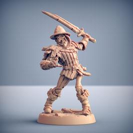 Skelettkrieger mit Einhandschwert und Helm