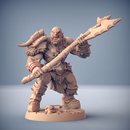 Ork Krieger mit Zweihandwaffe / alternativ Standarte
