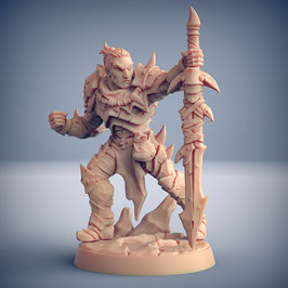 Exilant Krieger mit Zweihandschwert