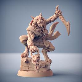Tabaxi Schurke mit Kurzschwert und Talisman
