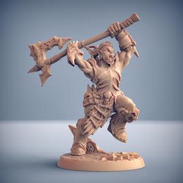 Frostclan Ork Kriegerin mit 2-H Axt