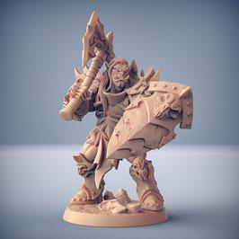 Frostclan Ork Krieger mit Axt und Schild